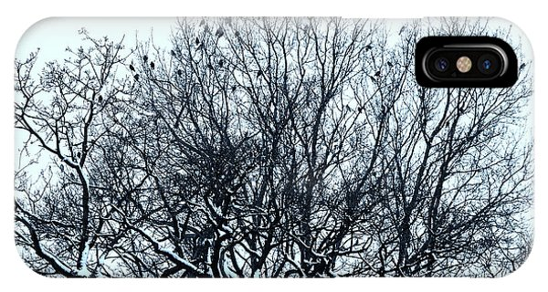 Birds On The Tree Monochrome IPhone Case