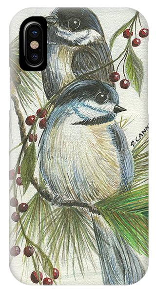 Birds Two And Fir Tree IPhone Case