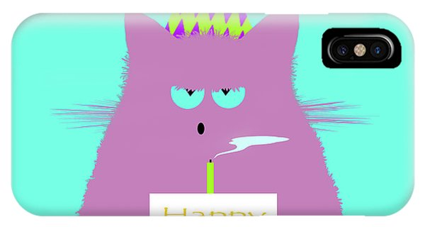 New Trend iPhone Case - Birthday Lilac Cat by Zaira Dzhaubaeva