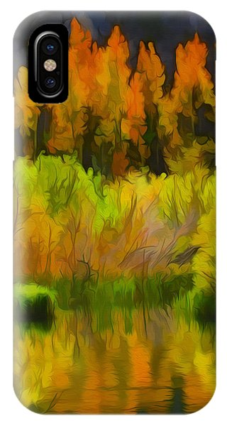 Bishop Creek Aspens IPhone Case