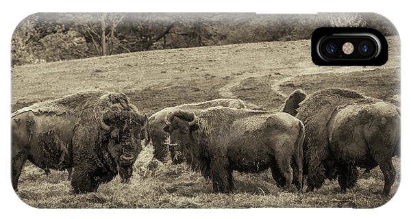 IPhone Case featuring the photograph Bison 1 - Pano by Joye Ardyn Durham