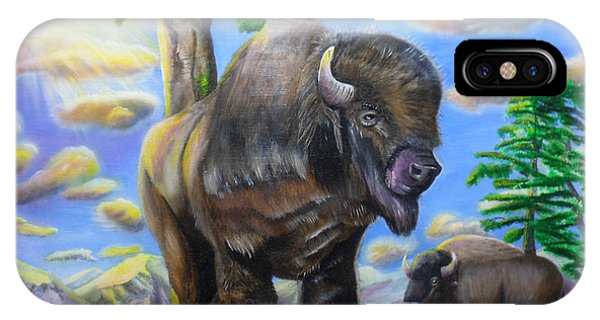 Bison Acrylic Painting IPhone Case