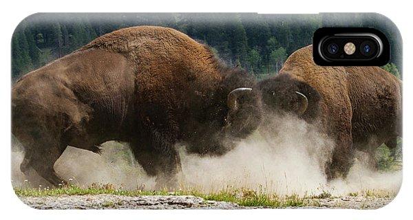 Bison Duel IPhone Case
