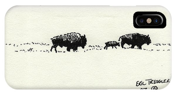 Bison Family IPhone Case
