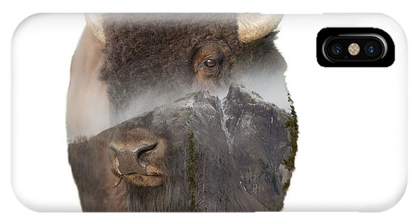 Bison Mountain  IPhone Case