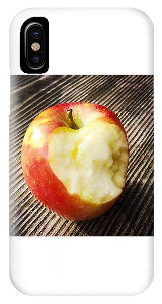 Bitten Red Apple IPhone Case
