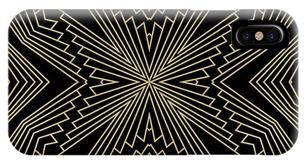 Black And Gold Art Deco Filigree 003 IPhone Case