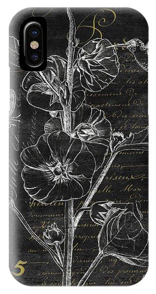 Hummingbird iPhone Case - Black And Gold Hummingbirds 1 by Debbie DeWitt