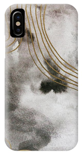 Black And Gold Watercolor IPhone Case