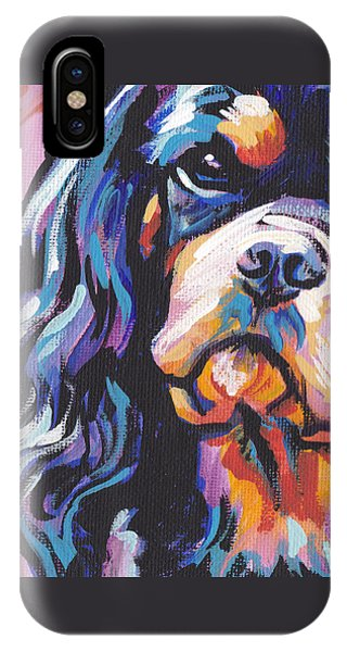 King Charles iPhone Case - Black And Tan Cav by Lea S