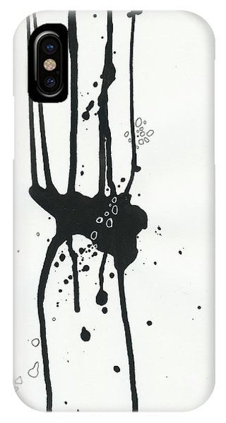 Drawing iPhone Case - Black And White # 17 by Jane Davies