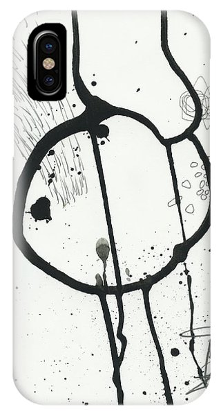 Drawing iPhone Case - Black And White # 24 by Jane Davies