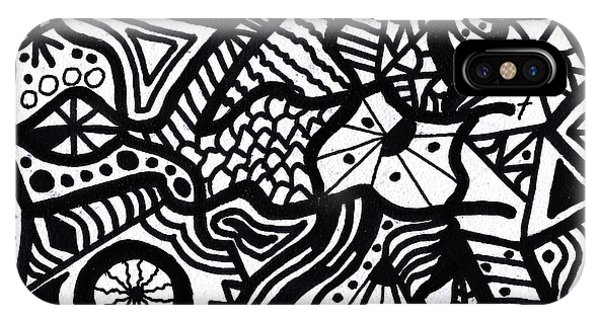 Black And White 7 IPhone Case