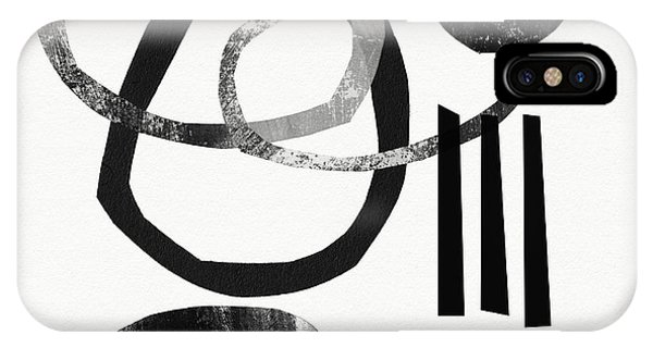 Black And White- Abstract Art IPhone Case