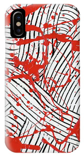 Black And White And Red All Over 1 IPhone Case