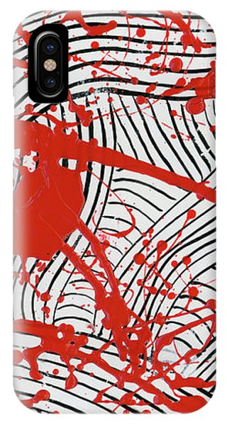 Black And White And Red All Over 2 IPhone Case