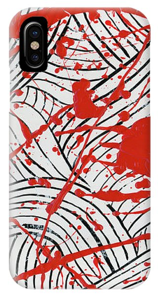 Black And White And Red All Over 3 IPhone Case