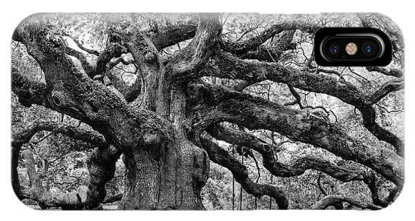 Black And White Angel Oak Tree IPhone Case