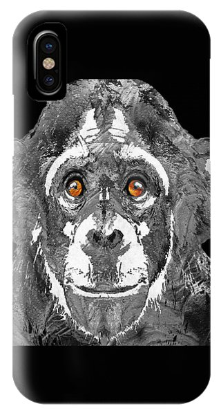 Black And White Art - Monkey Business 2 - By Sharon Cummings IPhone Case