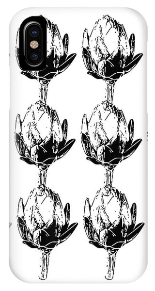 Black And White Artichokes- Art By Linda Woods IPhone Case