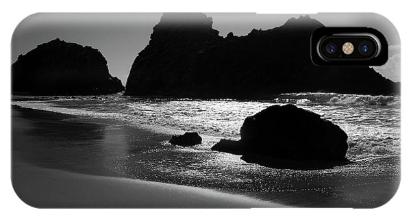 Black And White Big Sur Landscape Phone Case by Pierre Leclerc Photography