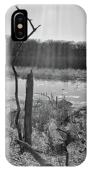 Black And White Bog IPhone Case