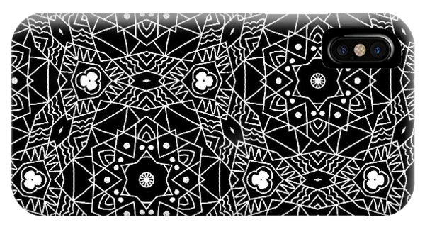 Black And White Boho Pattern 3- Art By Linda Woods IPhone Case