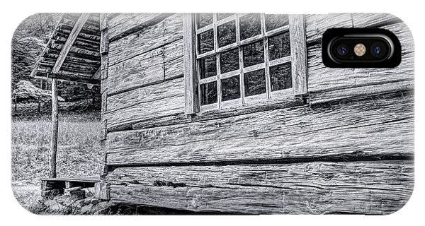 Black And White Cabin In The Forest IPhone Case