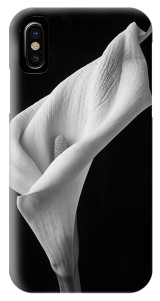 Design iPhone Case - Black And White Calla Lily by Garry Gay