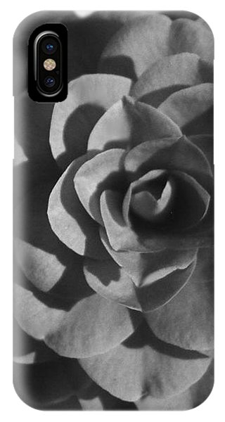 Camellia In Black And White IPhone Case