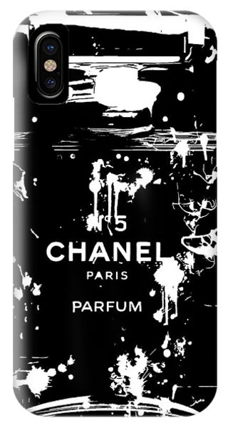 Dive iPhone Case - Black And White Chanel Splatter by Dan Sproul