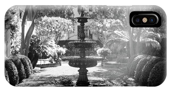 Black And White Charleston Fountain IPhone Case