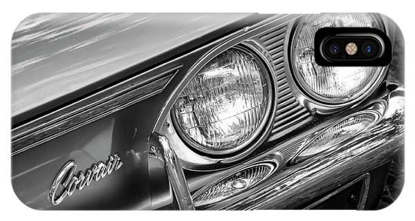 Corvair iPhone Case - Black And White Corvair by Dennis Hedberg