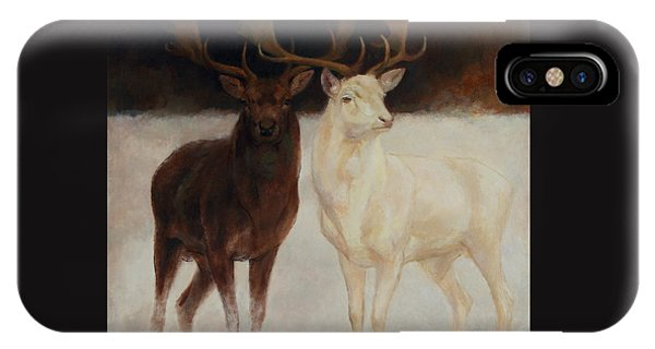 Black And White Fallow Deers IPhone Case