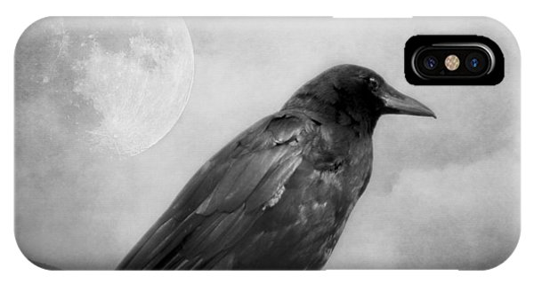 Black And White Gothic Crow Raven Art IPhone Case