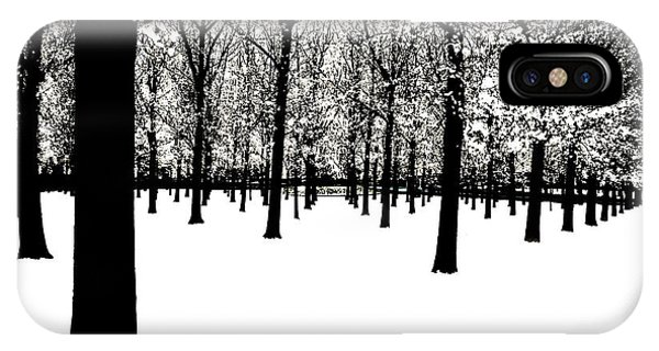 IPhone Case featuring the photograph Black And White by Jim Dollar