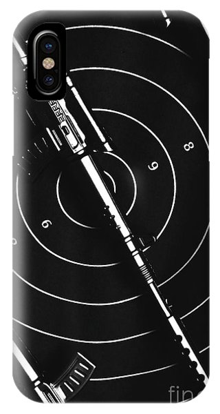 Shooting iPhone Case - Black And White Military Marksman  by Jorgo Photography - Wall Art Gallery