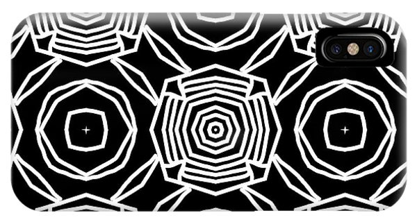 Tribal iPhone Case - Black And White Modern Roses- Pattern Art By Linda Woods by Linda Woods