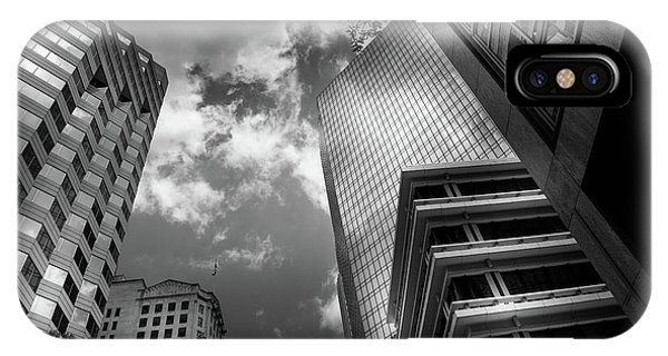 Black And White Of Silver And Blue In Charlotte IPhone Case