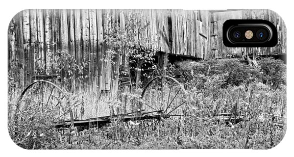 Black And White Old Barn In Maine IPhone Case
