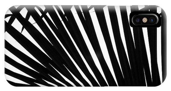 Black And White Palm Branch IPhone Case