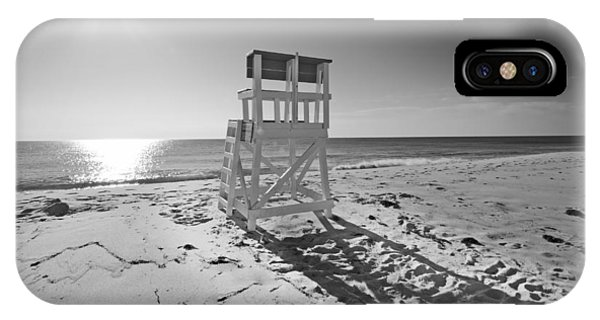 Black And White Photography The Beach Phone Case by Dapixara Art