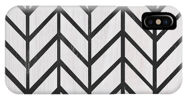 Abstract Modern iPhone Case - Black And White Quilt by Debbie DeWitt
