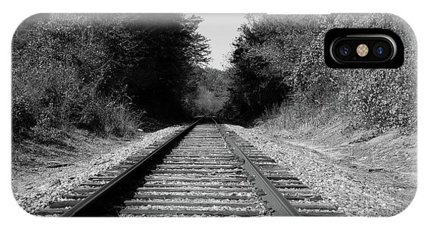 Black And White Railroad IPhone Case