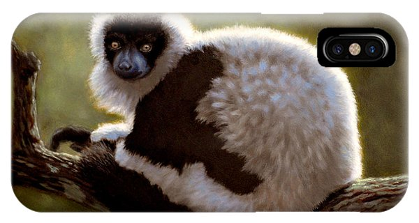 Black And White Ruffed Lemur IPhone Case