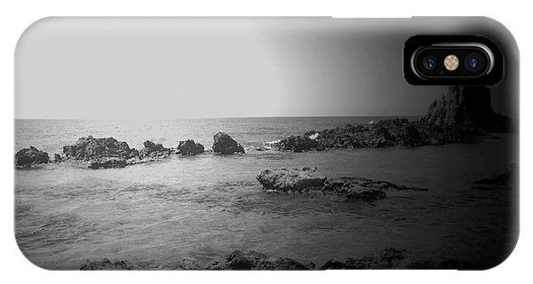 Black And White Sunset In Spain IPhone Case