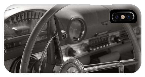 Black And White Thunderbird Steering Wheel  IPhone Case