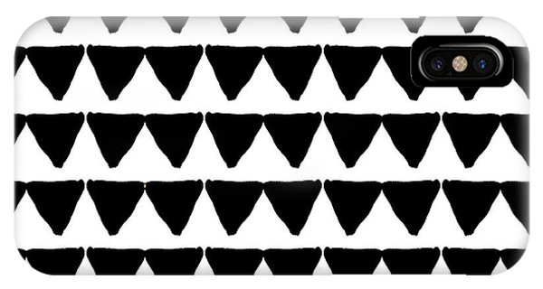 Triangles iPhone Case - Black And White Triangles- Art By Linda Woods by Linda Woods