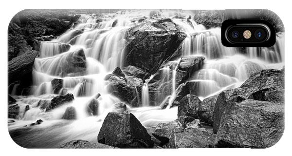 Black And White Waterfall In Lee Vining Canyon IPhone Case
