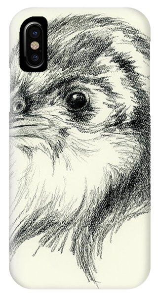 Black Australorp Chick In Charcoal IPhone Case